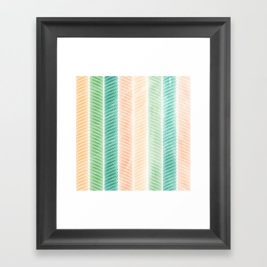 Feather Pattern Framed Art Print