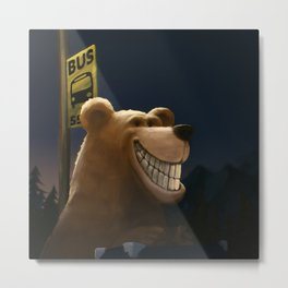 An early start, a travelling bear adventure Metal Print