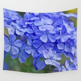 Summer garden blues - macro floral phtography Wall Tapestry