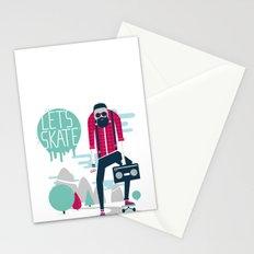 Let's skate  Stationery Cards