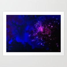 Mysterious Galaxy Art Print
