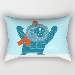 Snow Yeah Rectangular Pillow