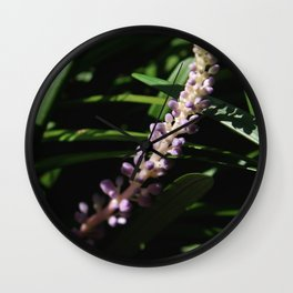Budding Shadows Wall Clock
