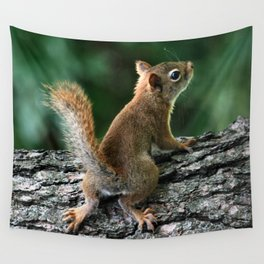 Young Red Wall Tapestry