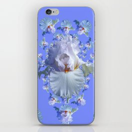 BLUE-WHITE IRIS ABSTRACT PATTERN iPhone Skin
