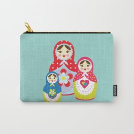 Turquoise babushka , matryoshka , russian doll , nursery decor , children gift, birthday gift Carry-All Pouch