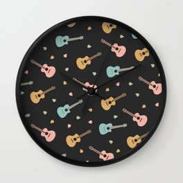 Mini guitars Wall Clock