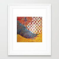 toddler Framed Art Prints featuring Behold the Toddler by missy pierce