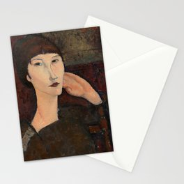 "Amedeo Modigliani ""Adrienne (Woman with Bangs)"" (1916) Stationery Cards"