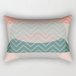 Summer Air, Geometrc Landscape Rectangular Pillow