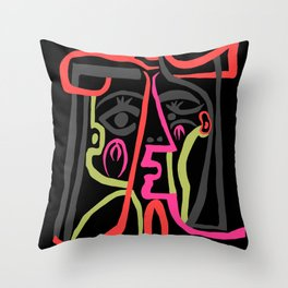 Picasso - Neon Colors Throw Pillow