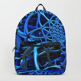 Blues - Flower of Life - Fractal - Mandala - Manafold Art Backpack