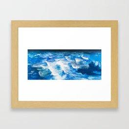 Cartografias del Agua Framed Art Print
