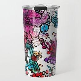 Floral watercolor abstraction Travel Mug