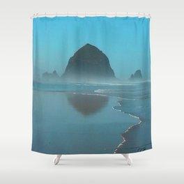 Haystack Rock, Cannon Beach Oregon Shower Curtain