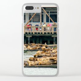 Pier 39, San Francisco Harbor Clear iPhone Case