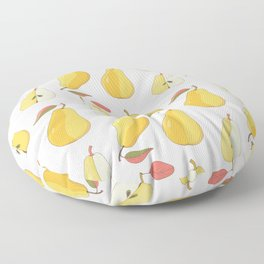 yellow pears Floor Pillow