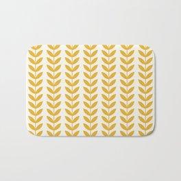 Scandinavian Mid Century Pattern Yellow Bath Mat
