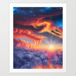 Eternal shining Art Print