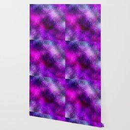 ultra violet foil flowers Wallpaper