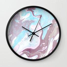 Suminagashi Art Wall Clock