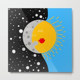 The moon + the sun Metal Print