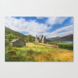 The Old Highland Church Canvas Print