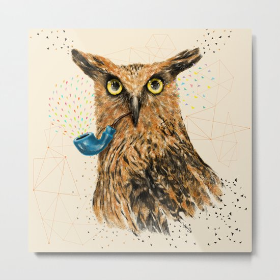 Mr.Owl V Metal Print