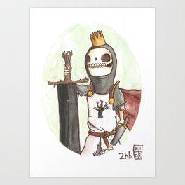 Skull King of the Obsidian Crown Art Print