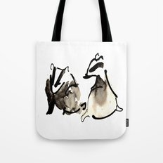 Badger Couple Tote Bag