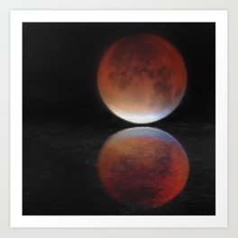 Super blood moon Art Print