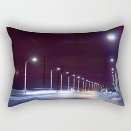Last Lights Downtown. Rectangular Pillow