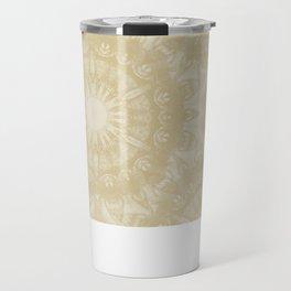 Peaceful kaleidoscope in beige Travel Mug