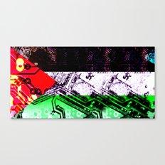 circuit board gaza strip (flag) Canvas Print