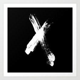 X marks the spot (white) Art Print
