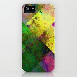 Dark Diamonds - Textured, patterned painting iPhone Case