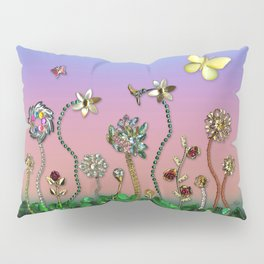 Happiness in the Garden of Bling Pillow Sham
