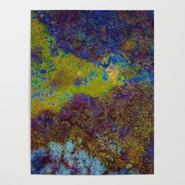 Acid Abstract Pattern (Color) Poster