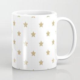 Gold Glitter Star Pattern Coffee Mug