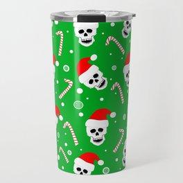 Skulls And Candy Canes Travel Mug