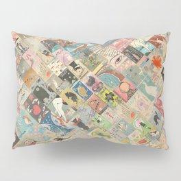 Vintage Japanese matchbox collage Pillow Sham