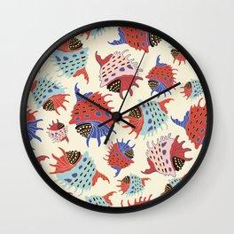 Colorful seashells. Wall Clock