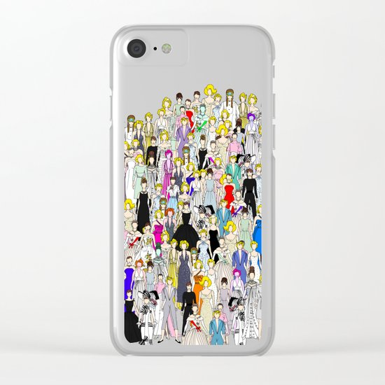 Audrey Marilyn Punks in Tokyo Clear iPhone Case