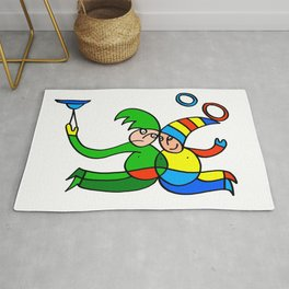 Twin Jugglers in Color for Kids Rug