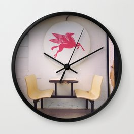 Mobil Gas Dining Booth Wall Clock