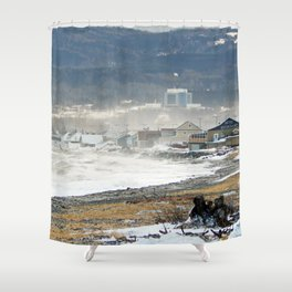 The Sea and the Cove Shower Curtain
