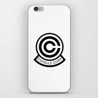 daschund iPhone & iPod Skins featuring Capsule Corp Logo 1 by Dashing Daschund