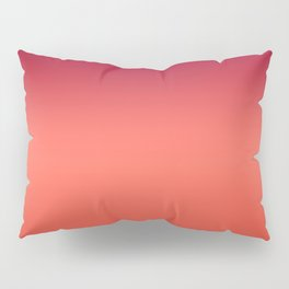 Living Coral Fiesta Jester Red Gradient Ombre Pattern Pillow Sham