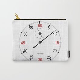 Stop Watch Face Carry-All Pouch