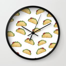 Too many tacos Wall Clock